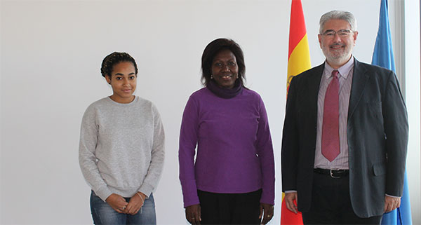 UNEATLANTICO's representative in Gabon visits the Santander campus