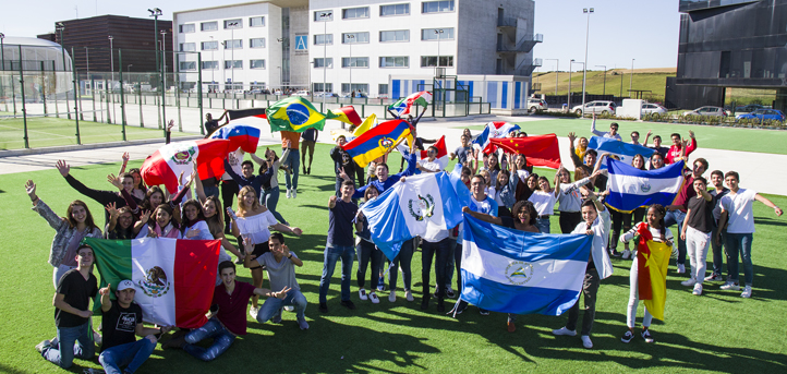 Flags from Every Country Receive First Year Students