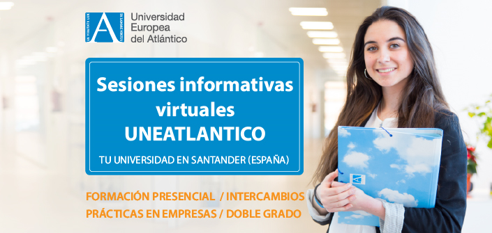 UNEATLANTICO organizes online information sessions on those programs that can be studied on Campus